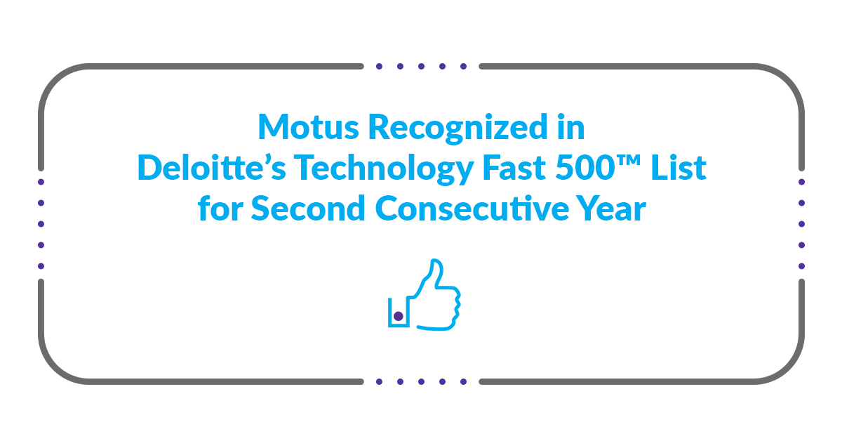 Motus Recognized in 2020 Fast 500