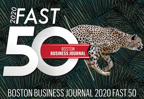 2020 Fast 50 Company by Boston Business Journal