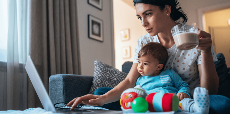 parenting while working from home